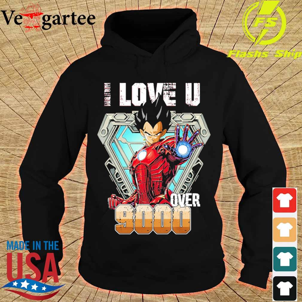 I love You over 9000 Black Half Sleeve s hoodie