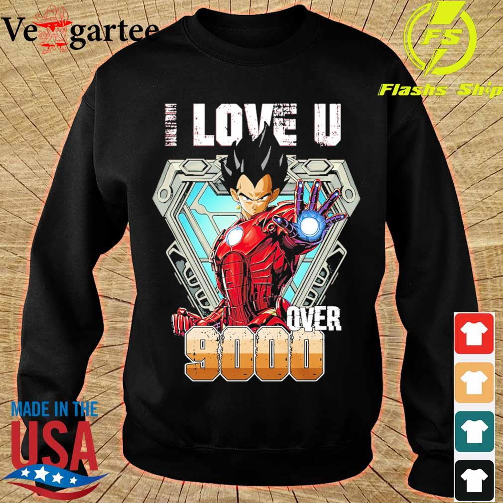 I love You over 9000 Black Half Sleeve s sweater