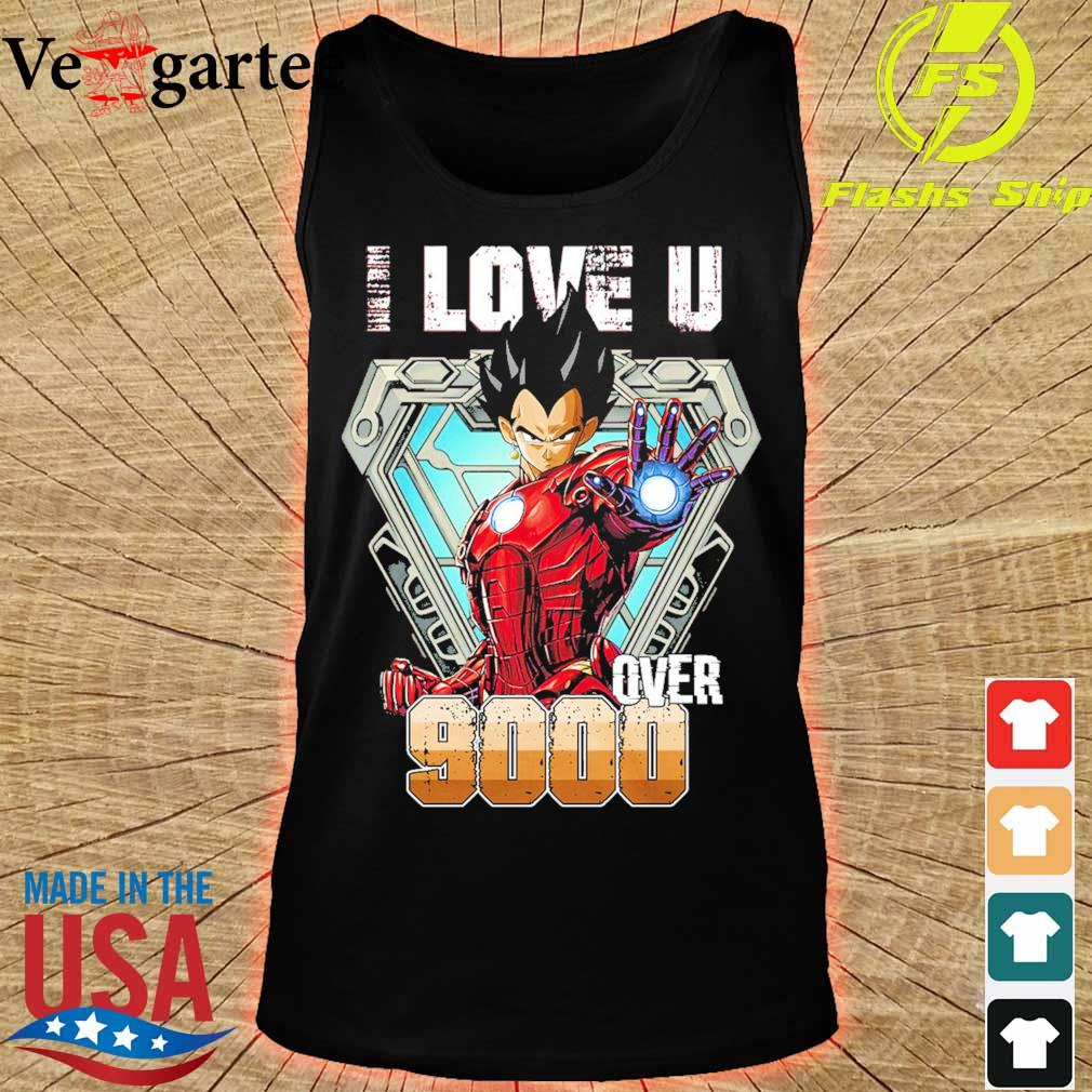 I love You over 9000 Black Half Sleeve s tank top