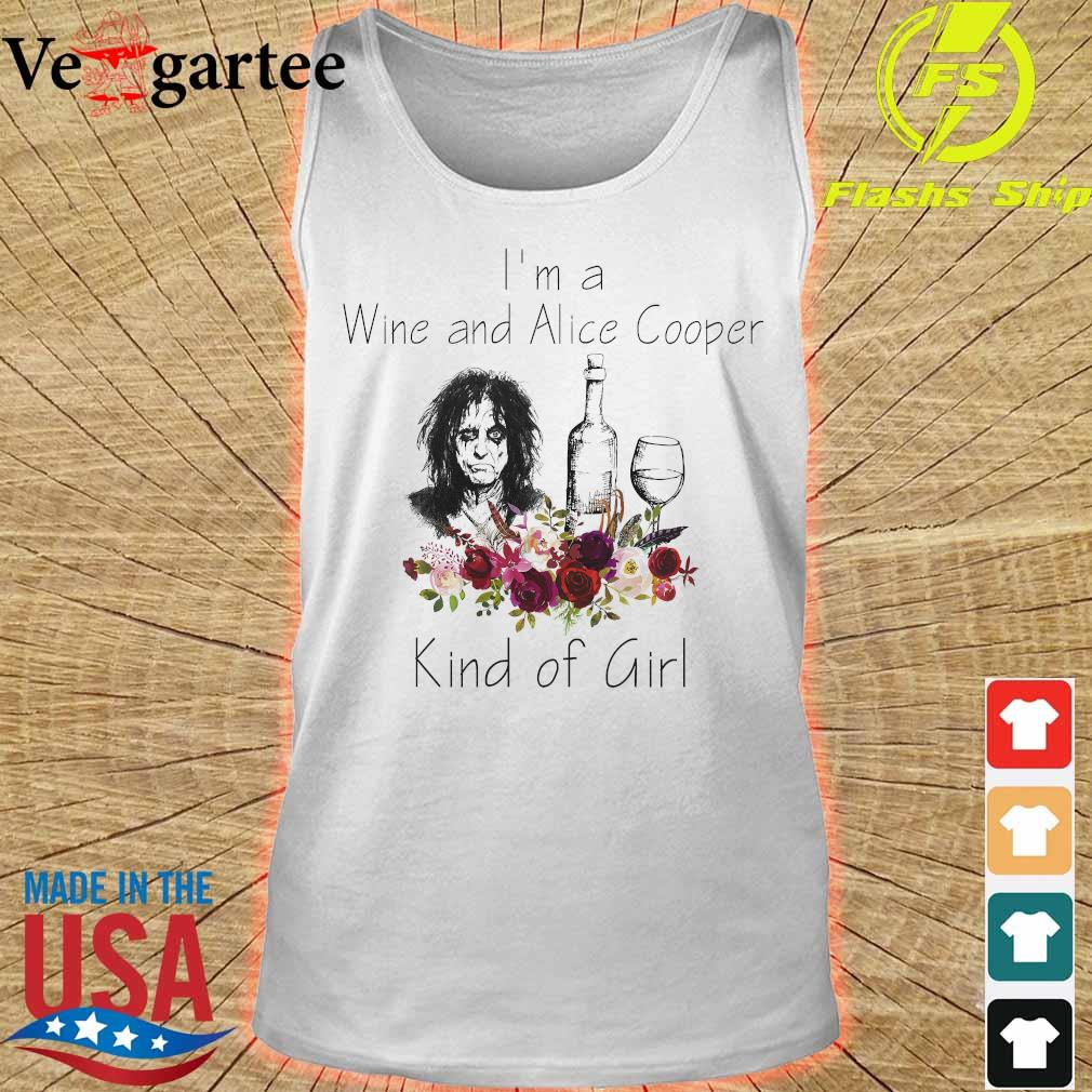 I'm a Wine and Alice Cooper Kind of girl s tank top