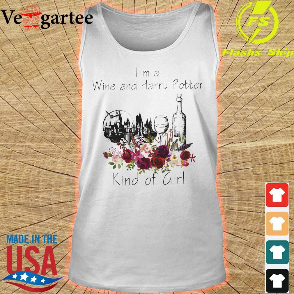 I'm a Wine and Harry Potter kind of girl s tank top