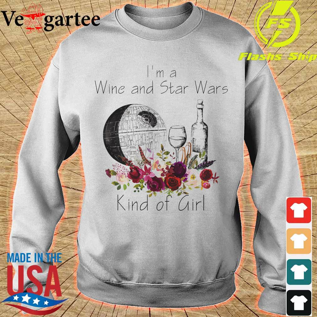 I'm a Wine and Star Wars kind of girl s sweater