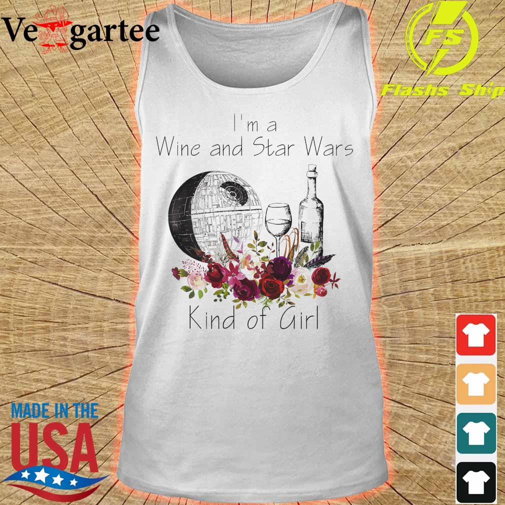 I'm a Wine and Star Wars kind of girl s tank top