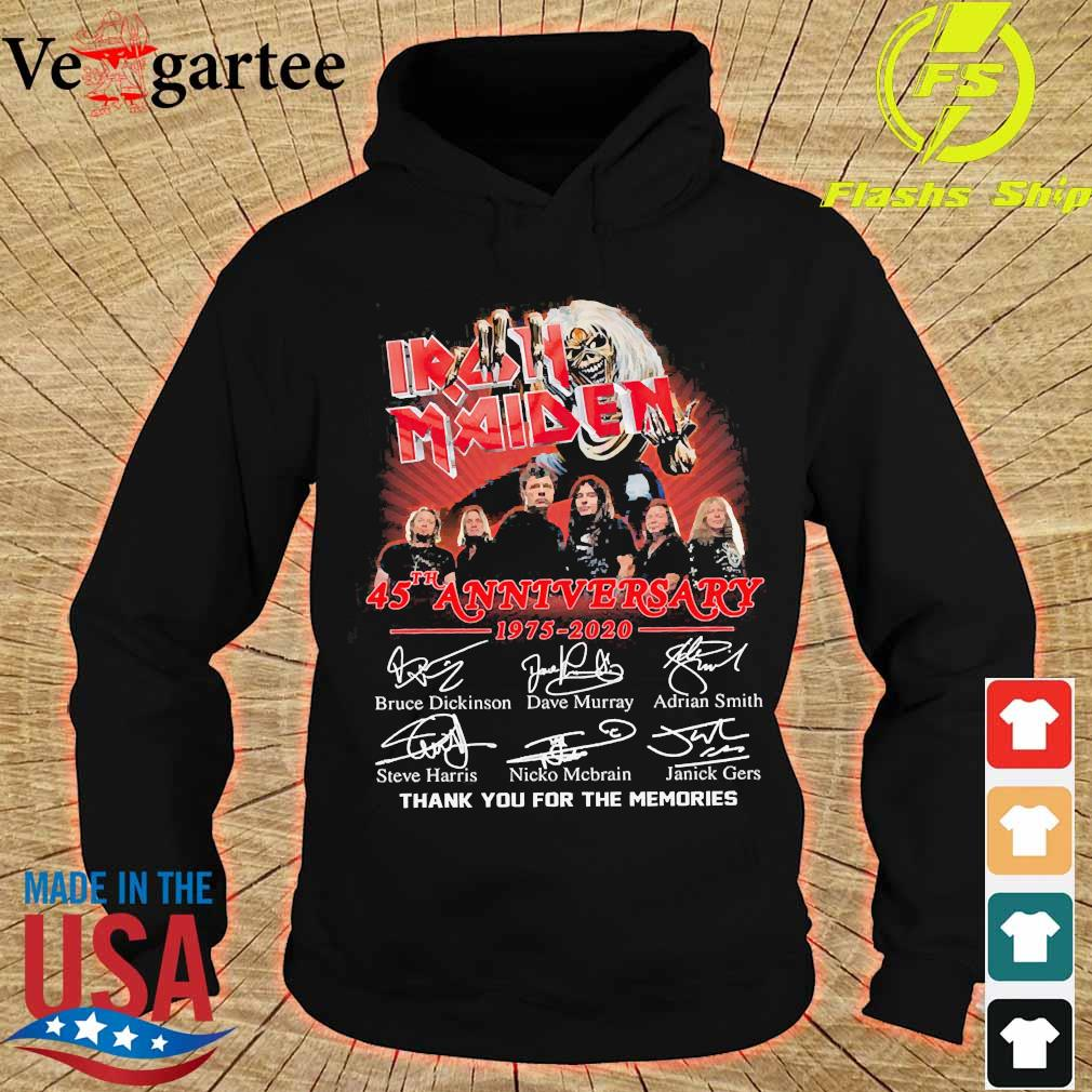 Iran Maiden 45th anniversary 1975 2020 thank You for the memories signatures s hoodie