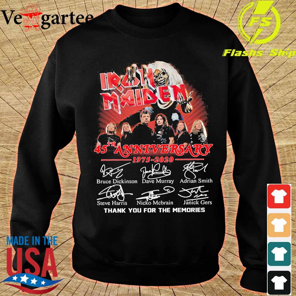 Iran Maiden 45th anniversary 1975 2020 thank You for the memories signatures s sweater