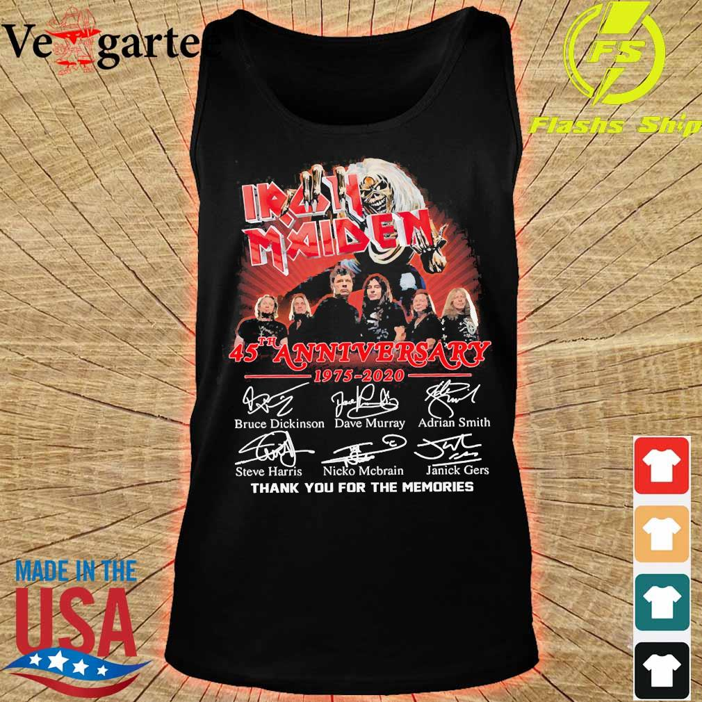 Iran Maiden 45th anniversary 1975 2020 thank You for the memories signatures s tank top