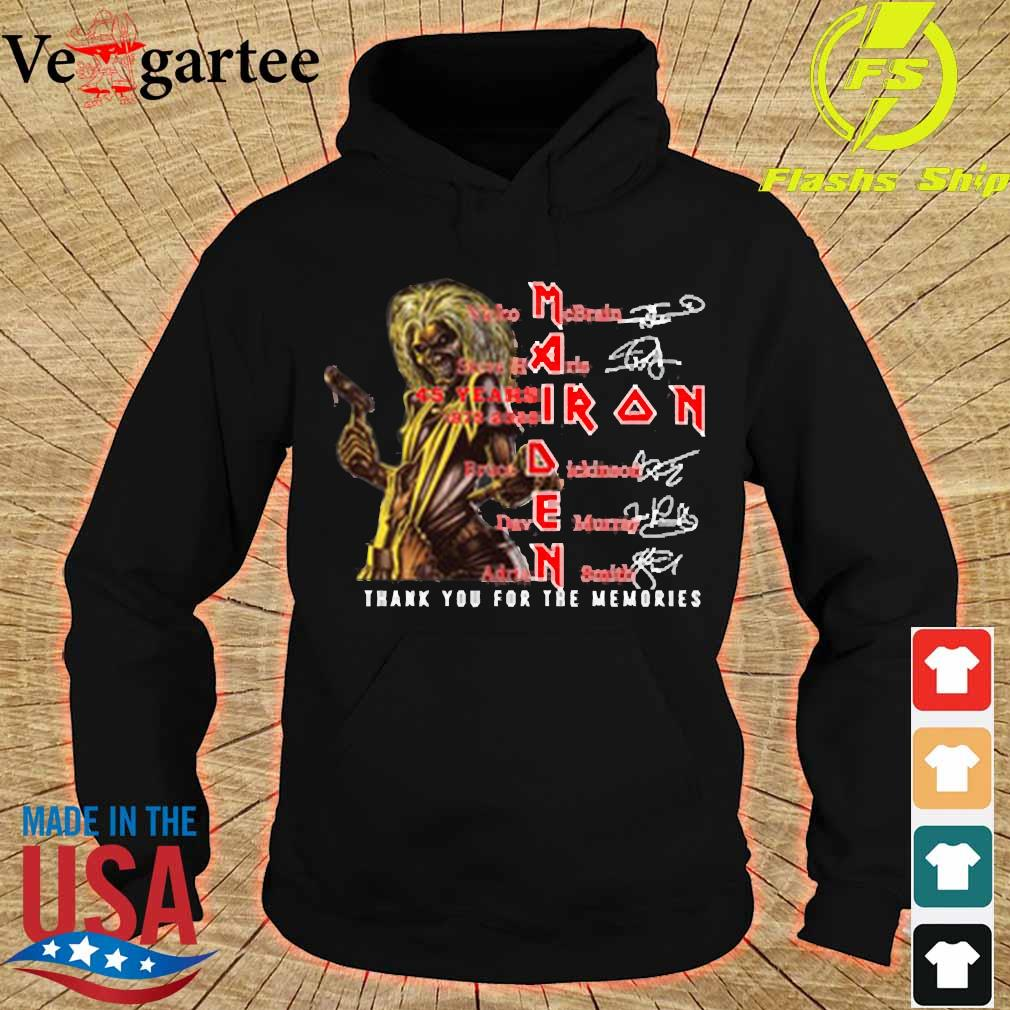 Iron Maiden 45 years 1975-2020 thank You for the memories signatures s hoodie