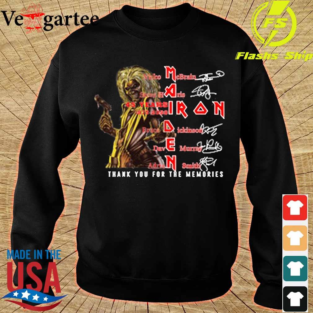 Iron Maiden 45 years 1975-2020 thank You for the memories signatures s sweater