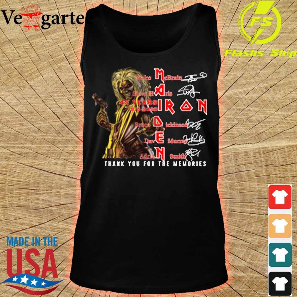 Iron Maiden 45 years 1975-2020 thank You for the memories signatures s tank top