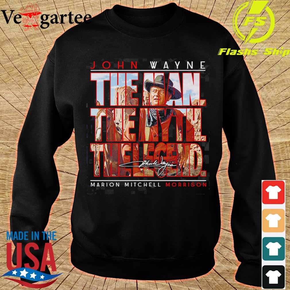 John Wayne the man the myth the legend marion mitchell morrison signature s sweater