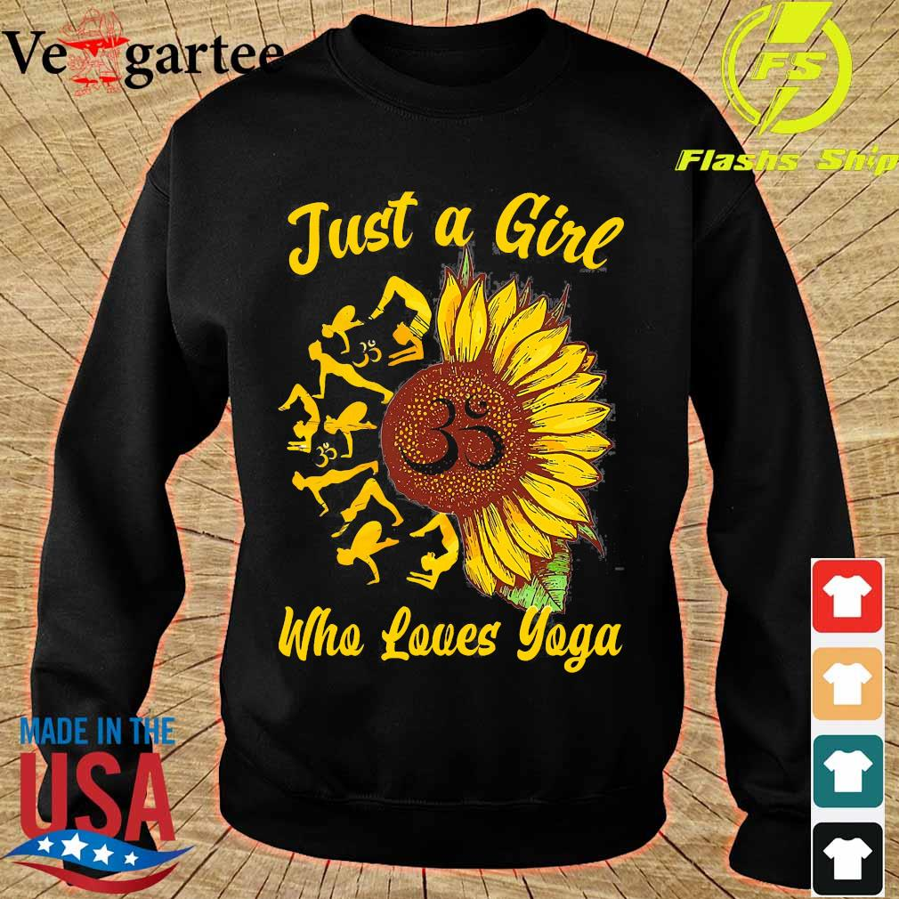 Just a girl who loves yoga and sunflower Shirt sweater