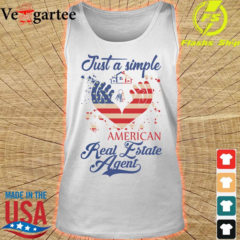 Just a simple American real estate agent s tank top