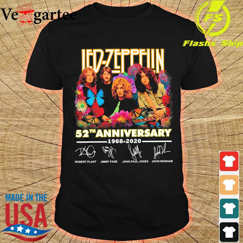 Led-Zeppelin 52th anniversary 1968 2020 signatures Shirt