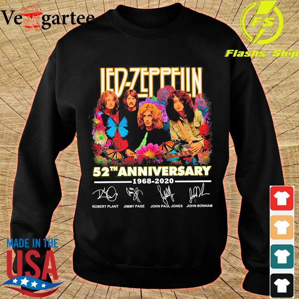 Led-Zeppelin 52th anniversary 1968 2020 signatures Shirt sweater
