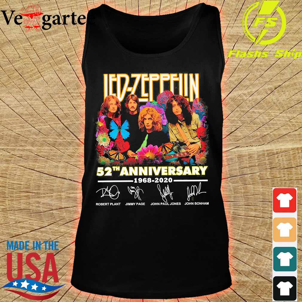 Led-Zeppelin 52th anniversary 1968 2020 signatures Shirt tank top