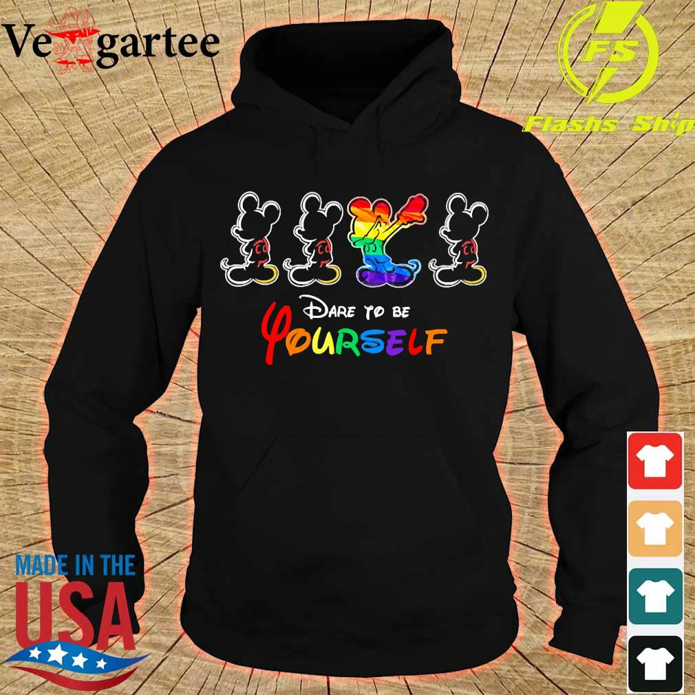 LGBT Mickey mouse dare to be yourself s hoodie