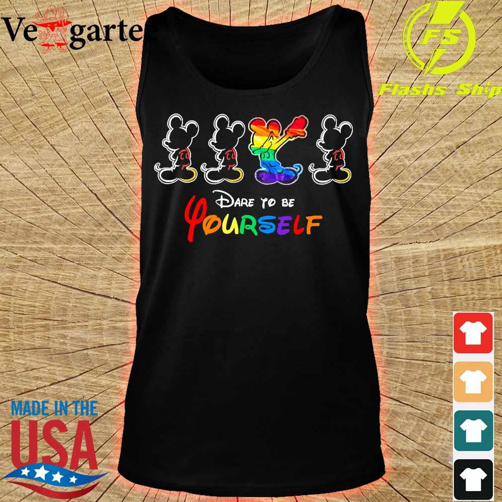 LGBT Mickey mouse dare to be yourself s tank top