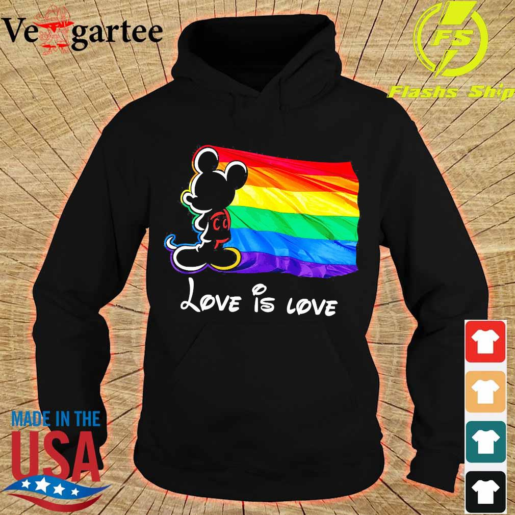 LGBT Mickey Mouse love is love Shirt hoodie