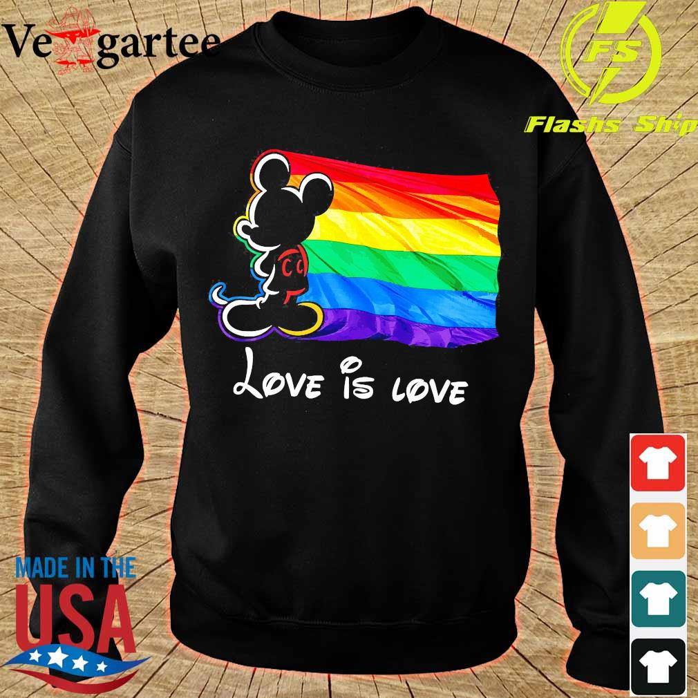LGBT Mickey Mouse love is love Shirt sweater