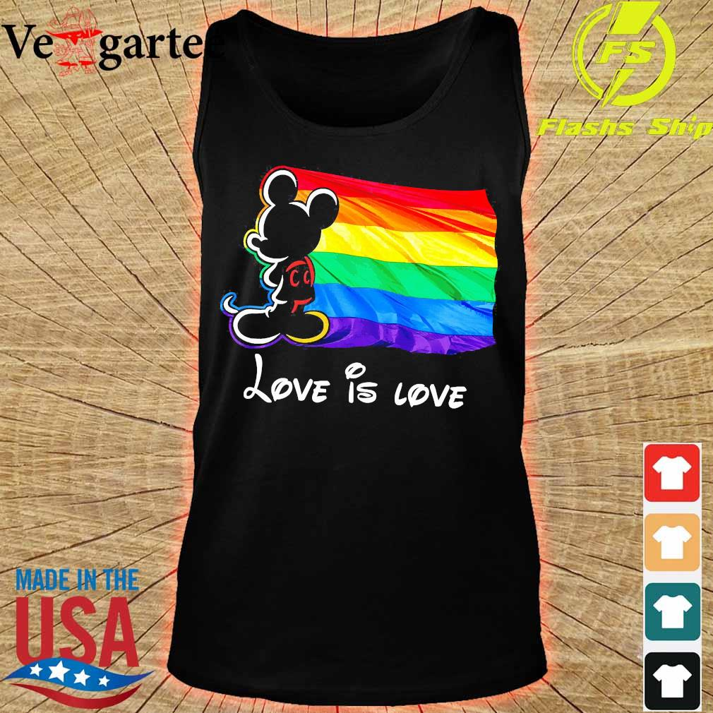 LGBT Mickey Mouse love is love Shirt tank top