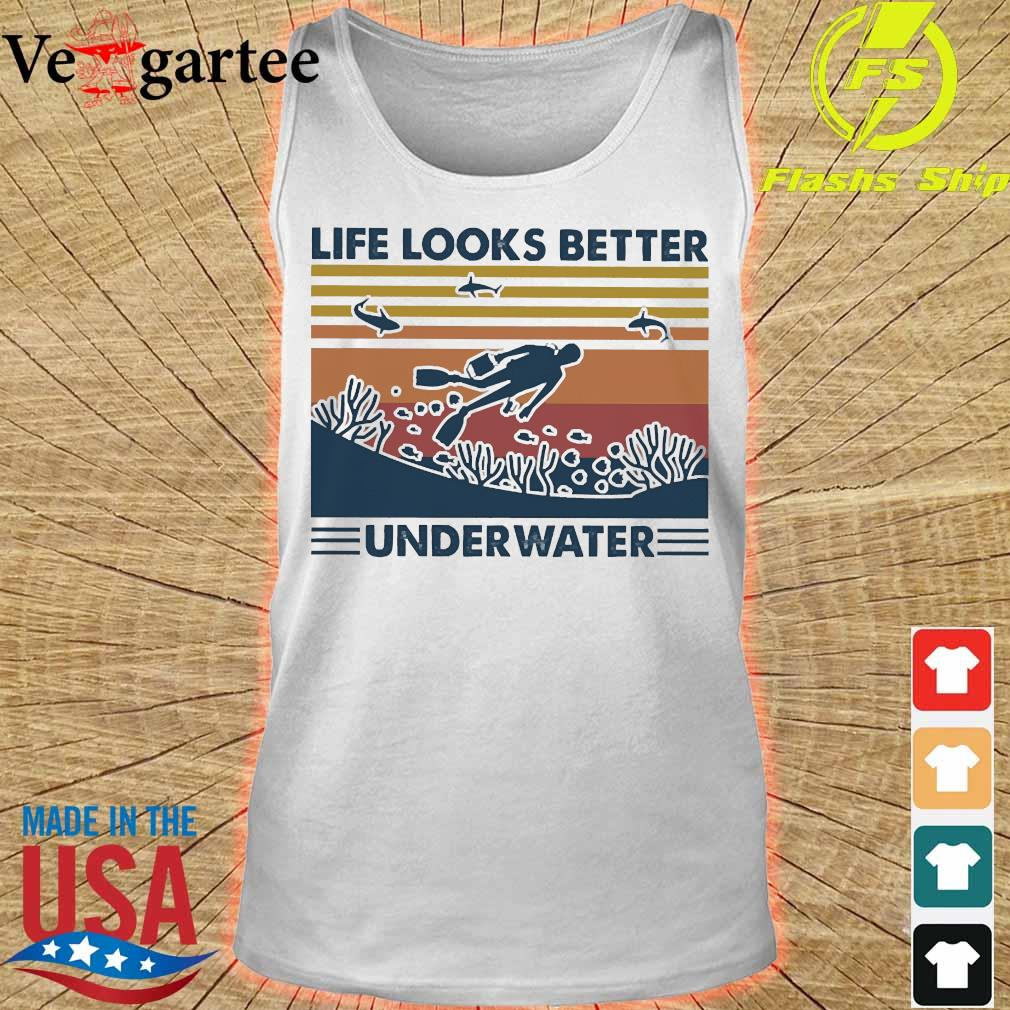 Life looks better underwater vintage s tank top