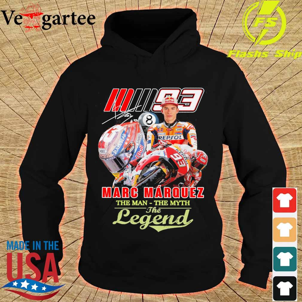 Marc Marquez the man the myth the legend signature s hoodie