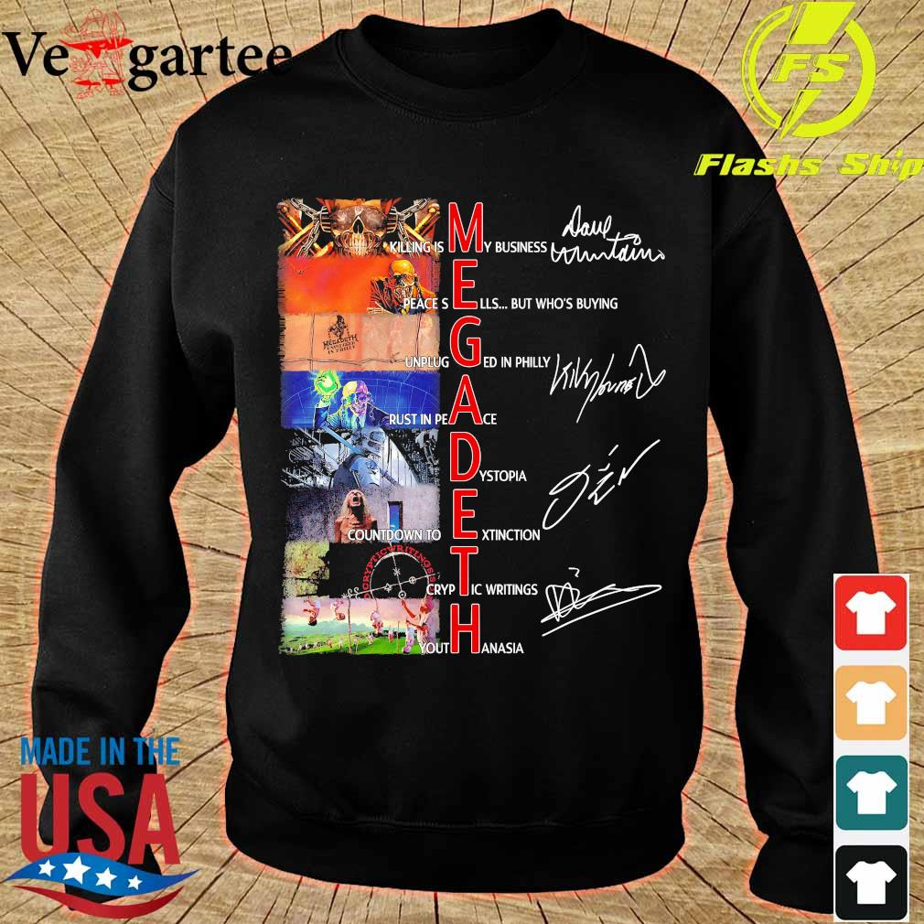 Megadeth band members signatures s sweater
