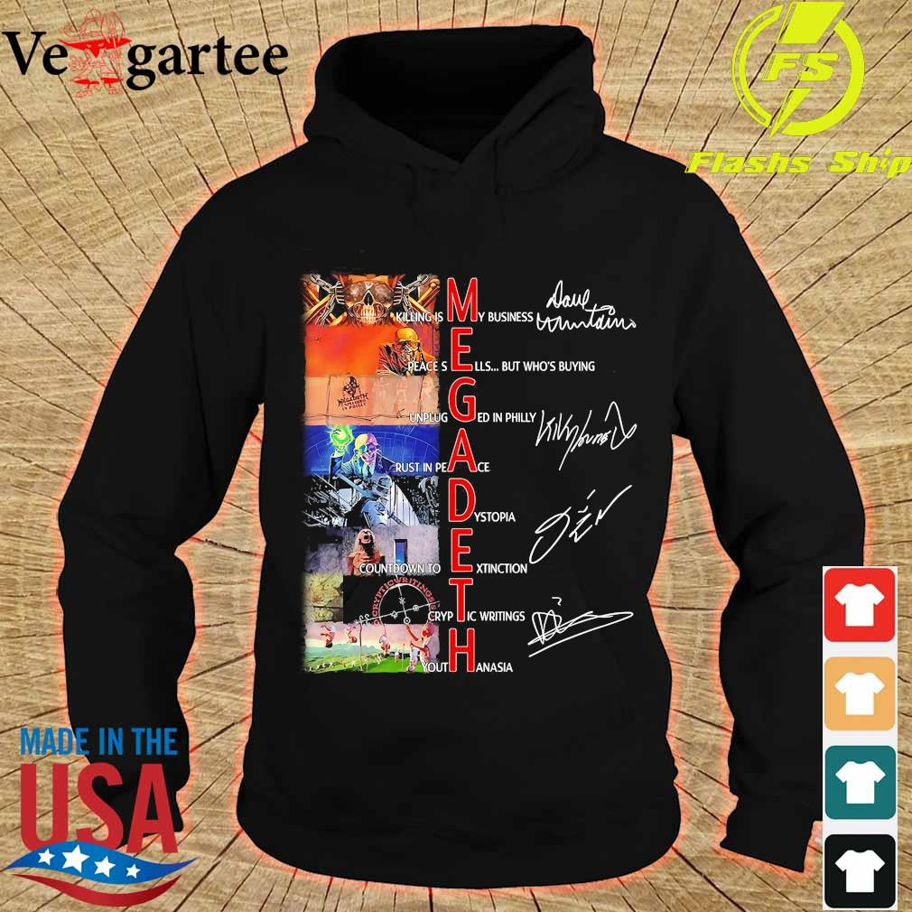 Megadeth killing is My business rust in peace signatures Shirt hoodie