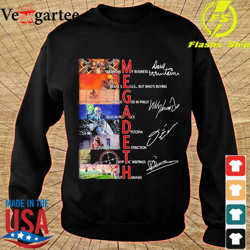 Megadeth killing is My business rust in peace signatures Shirt sweater