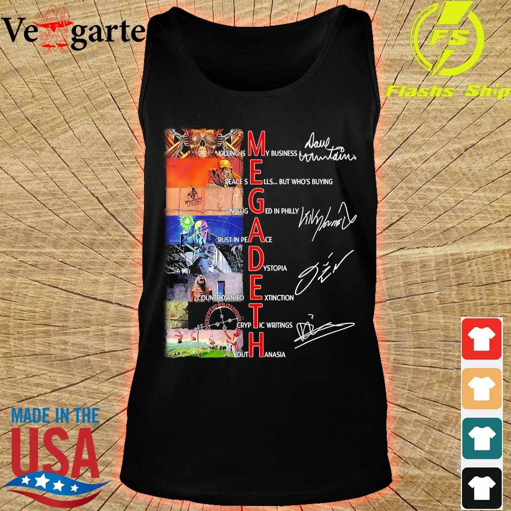 Megadeth killing is My business rust in peace signatures Shirt tank top