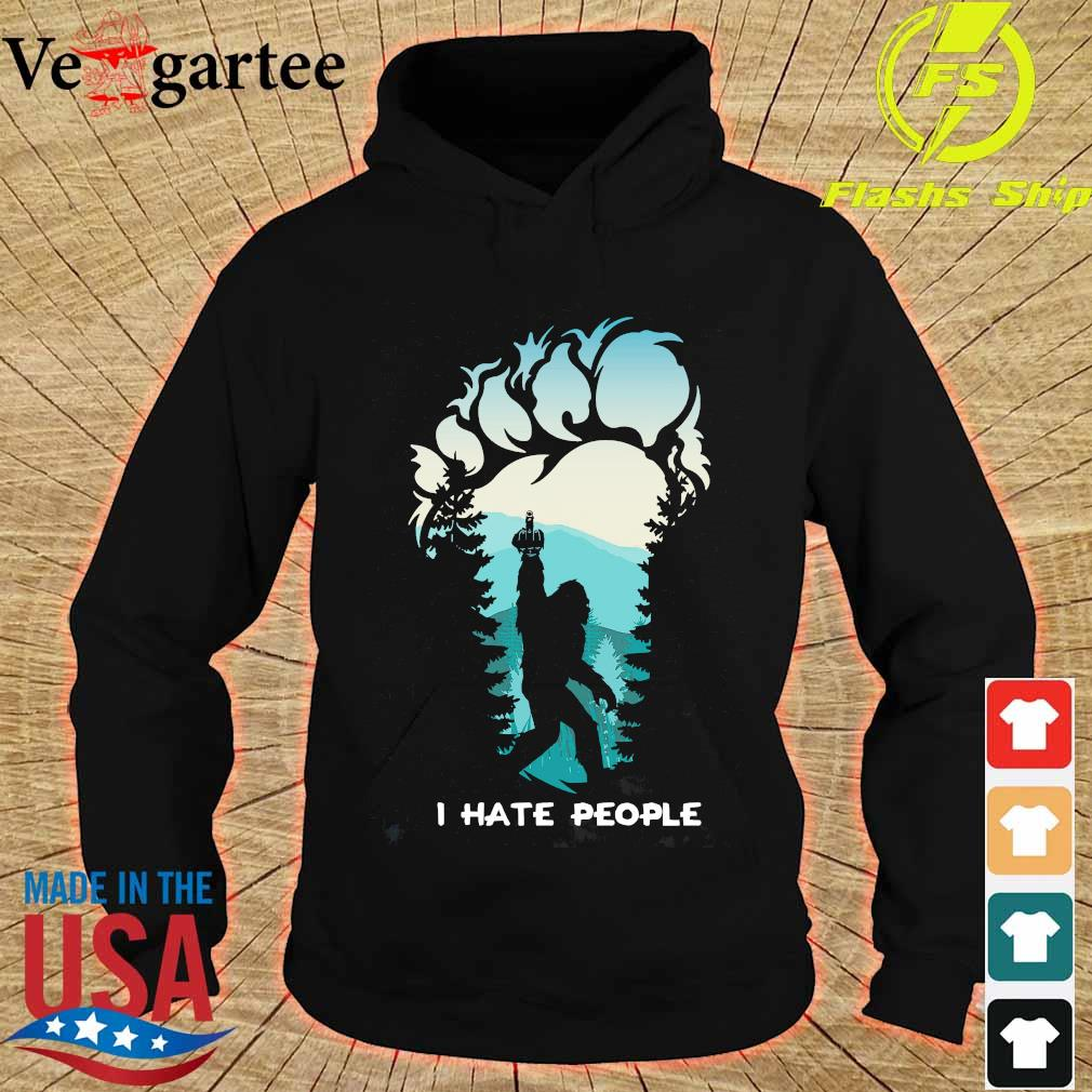 Middle finger footprint I hate People Shirt hoodie