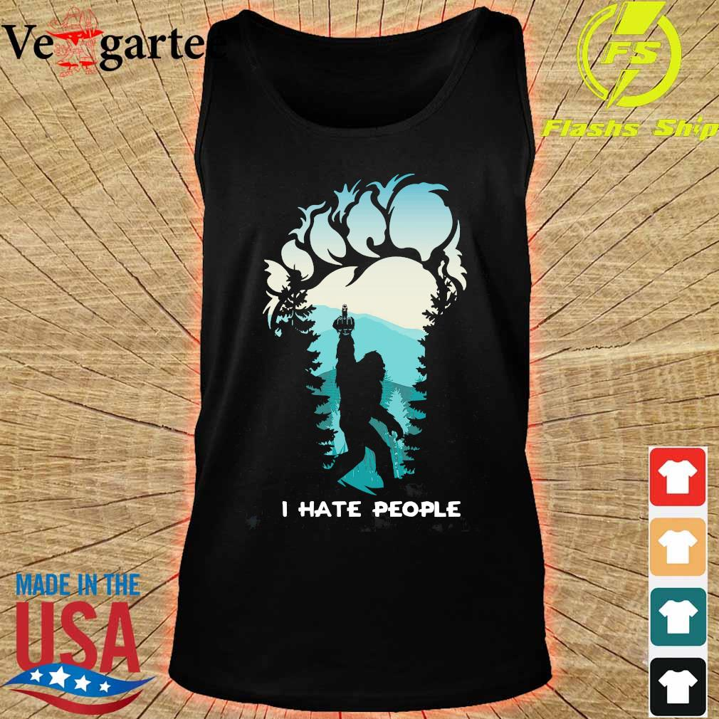 Middle finger footprint I hate People Shirt tank top