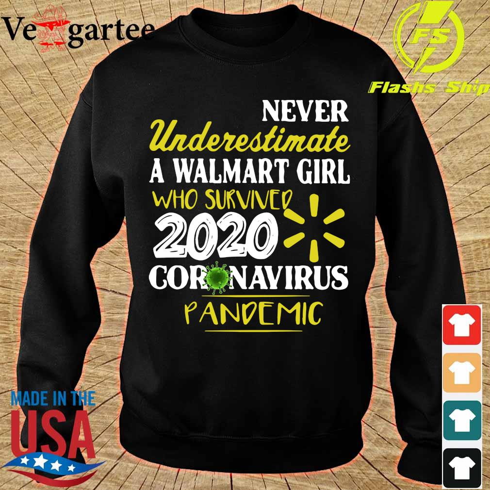 Never Underestimate A Walmart Girl Who Survived 2020 Coronavirus Pandemic Shirt sweater