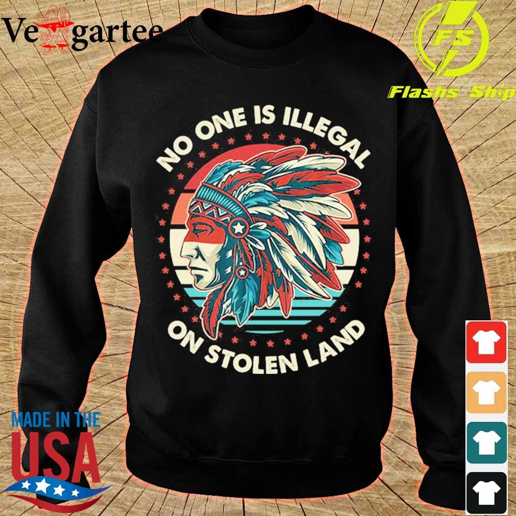 No one is Illegal on stolen land vintage s sweater