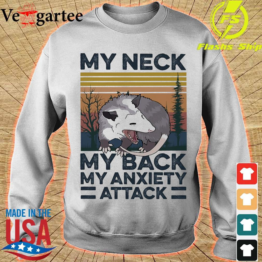opossum my neck my back my anxiety attack vintage s sweater