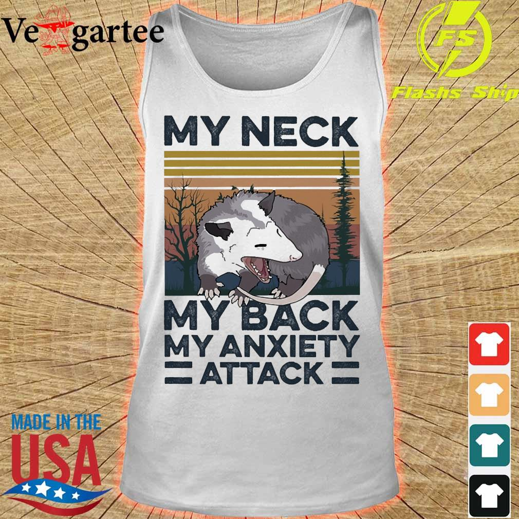 opossum my neck my back my anxiety attack vintage s tank top