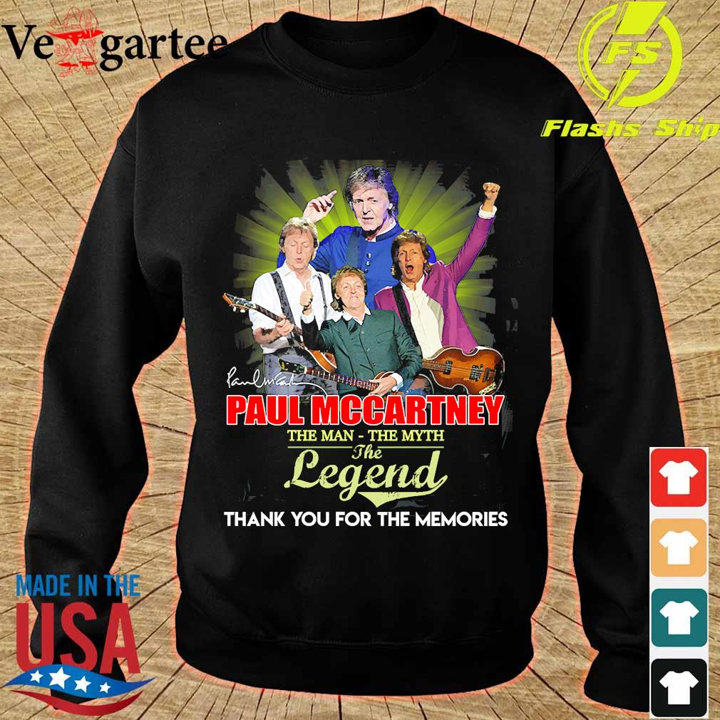 Paul Mccartney the man the myth the legend thank You for the memories signature s sweater