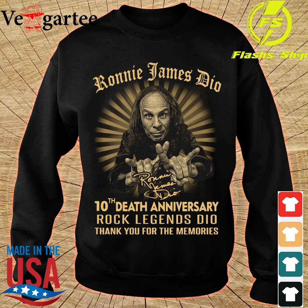 Ronnie James Dio 10th death anniversary rock legends DIO thank You for the memories signature Shirt sweater