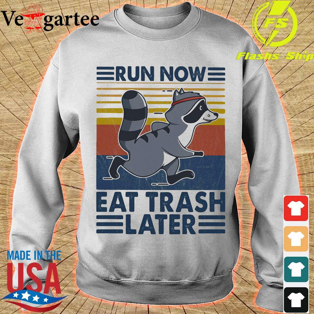 Run now aet trash later vintage s sweater