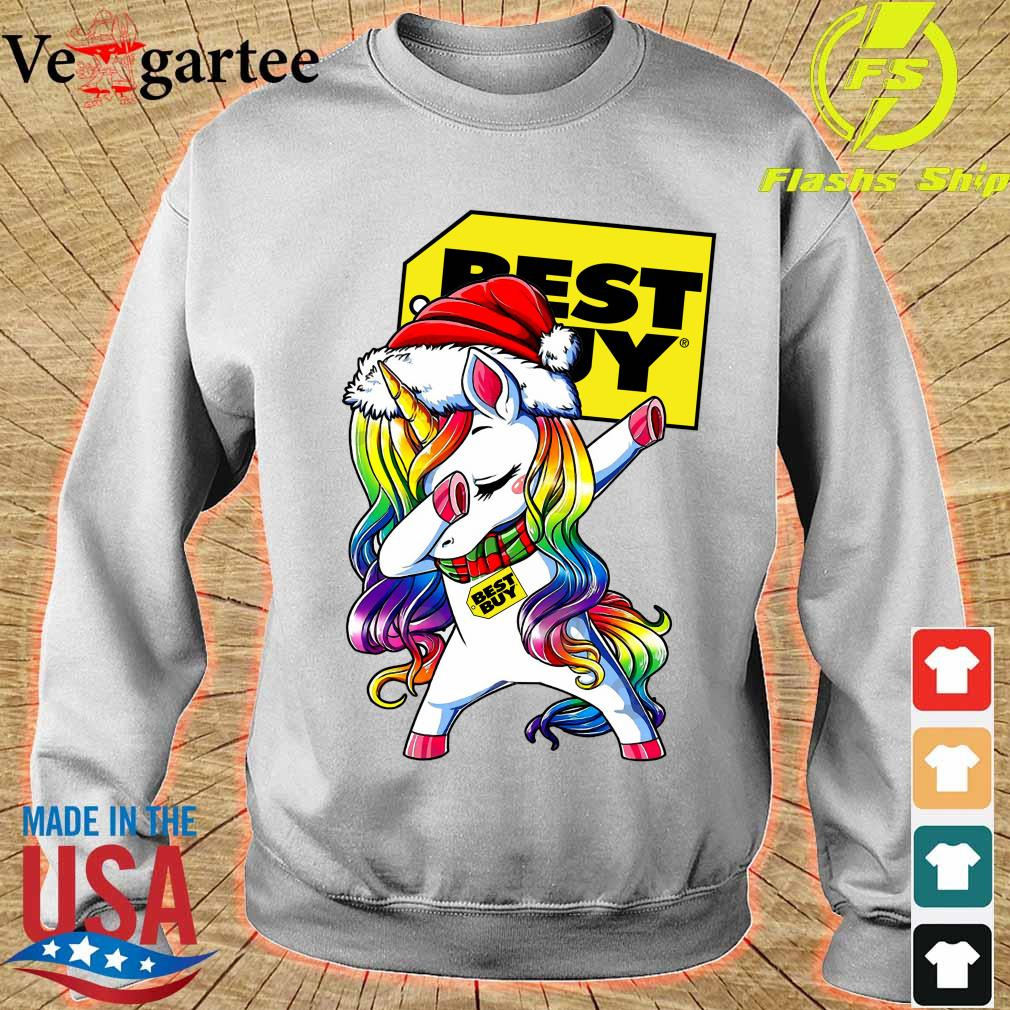 Santa Unicorn Dabbing Best Buy Shirt sweater