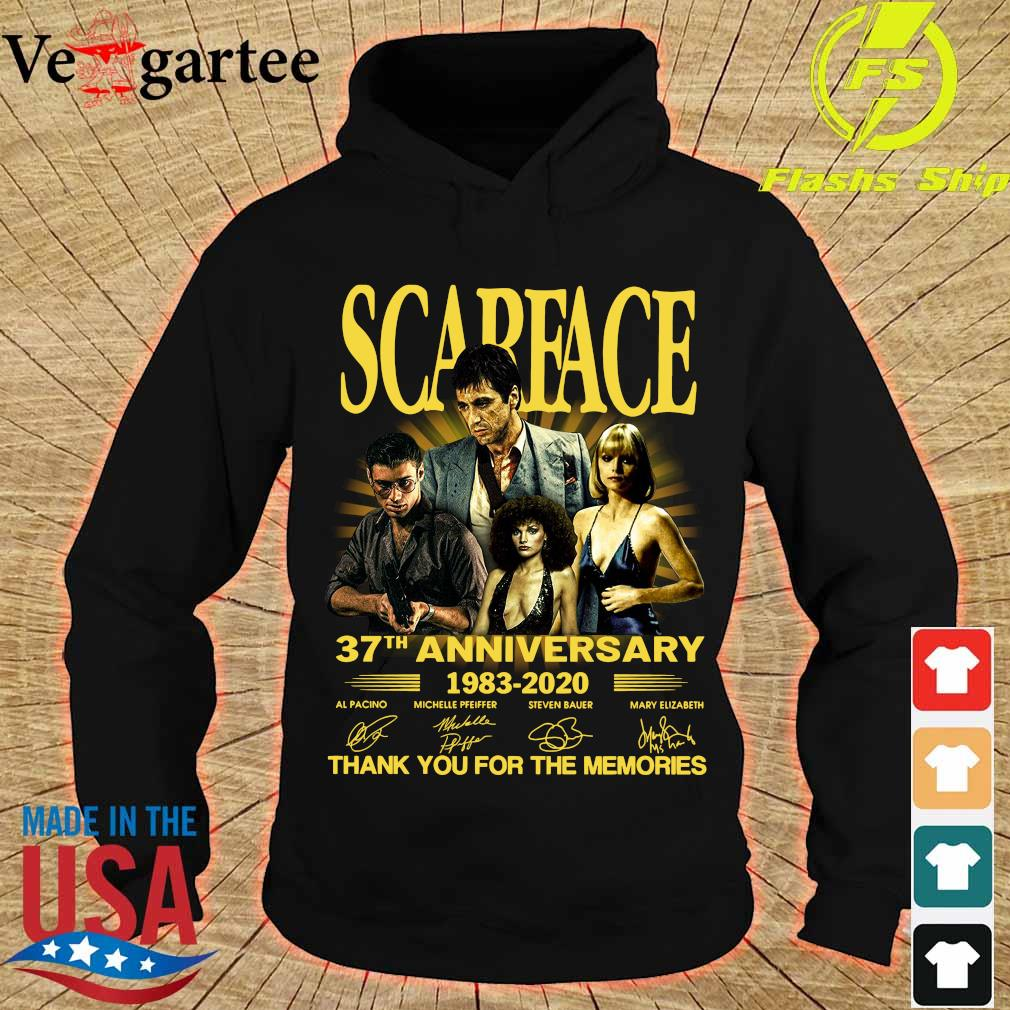 Scarface 37th anniversary 1983 2020 thank You for the memories signatures s hoodie