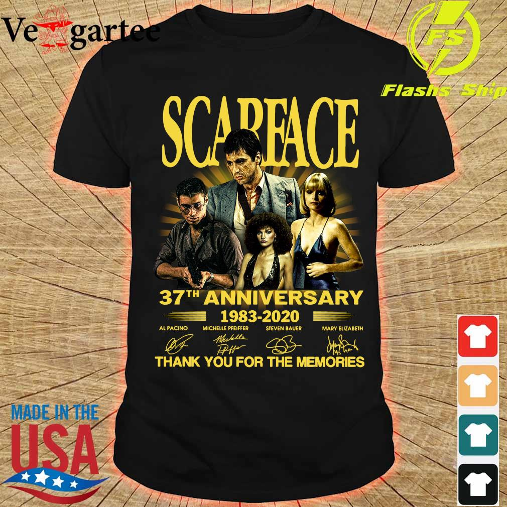 Scarface 37th anniversary 1983 2020 thank You for the memories signatures shirt