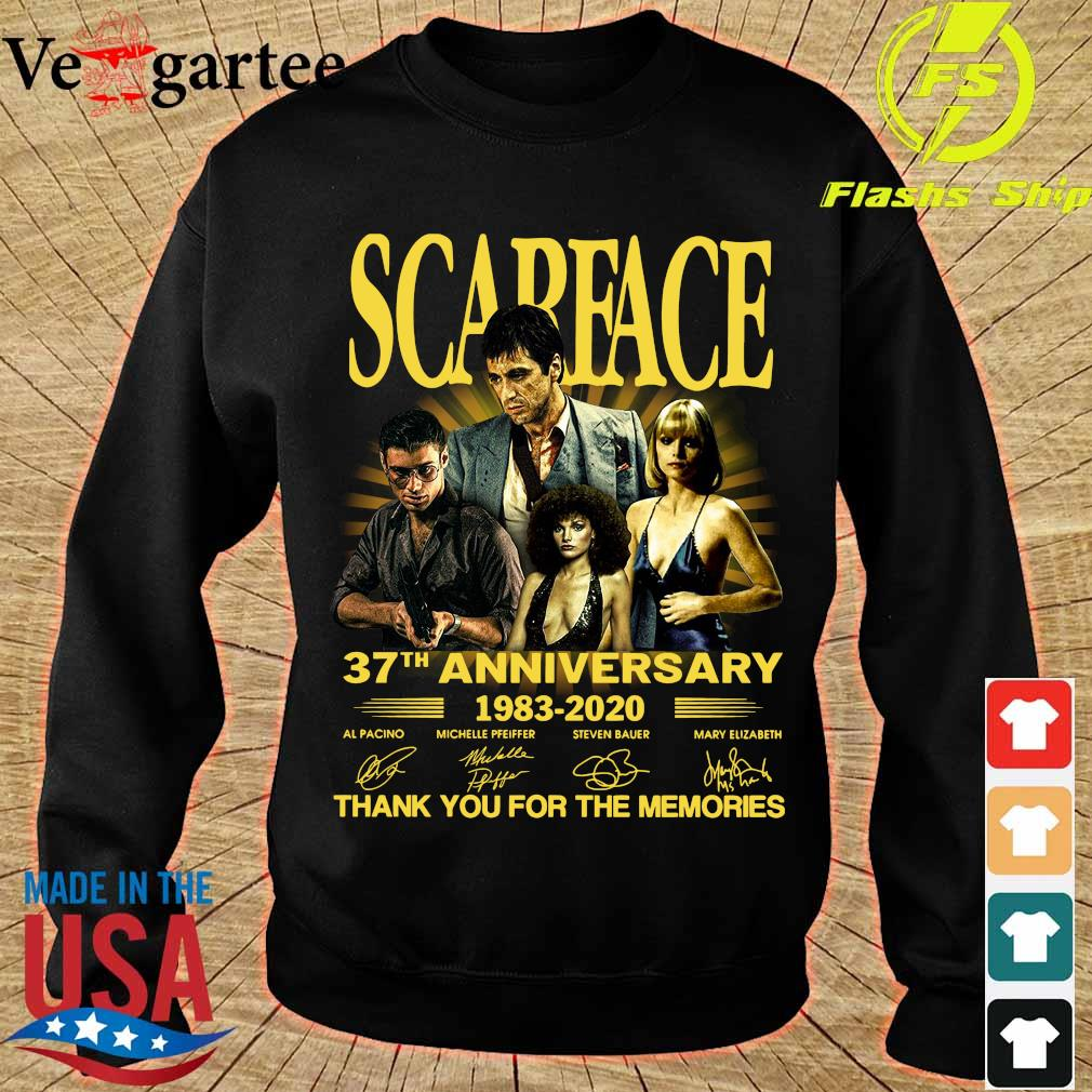 Scarface 37th anniversary 1983 2020 thank You for the memories signatures s sweater