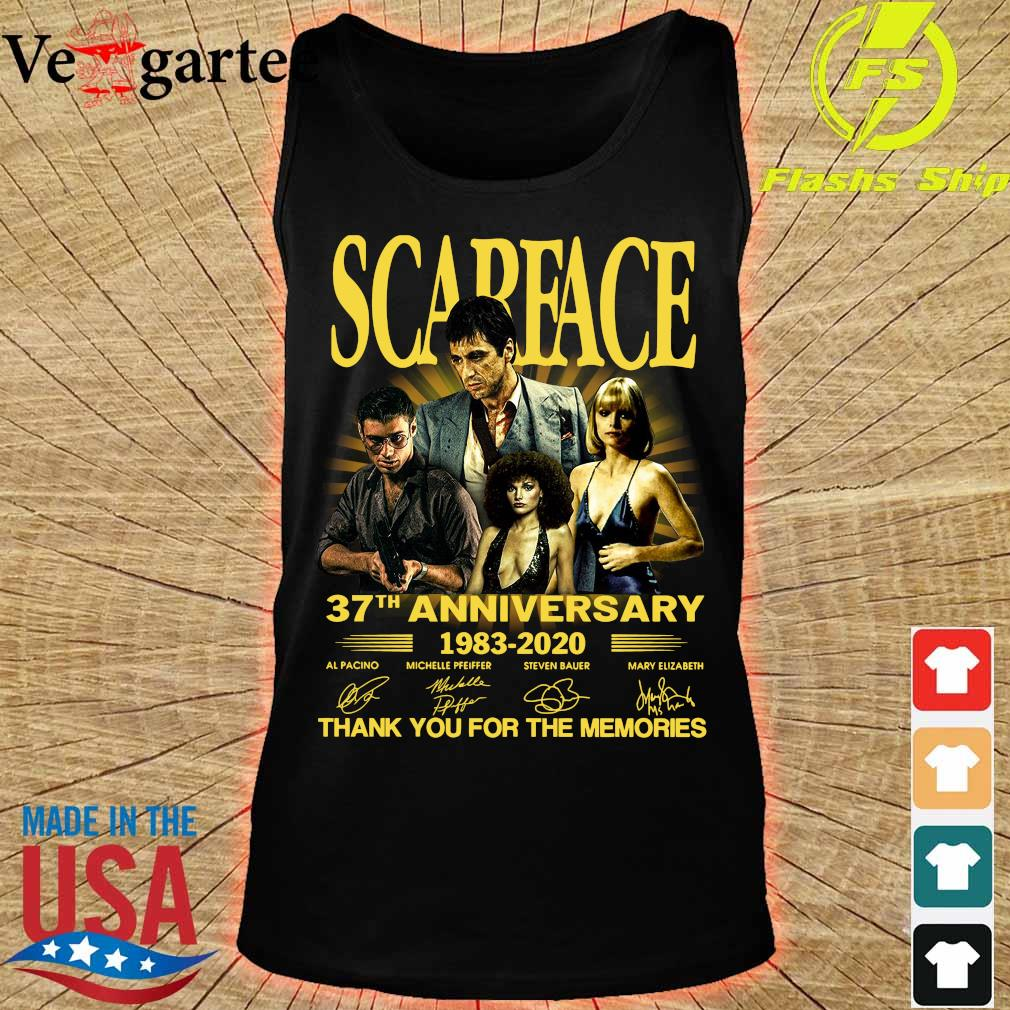 Scarface 37th anniversary 1983 2020 thank You for the memories signatures s tank top