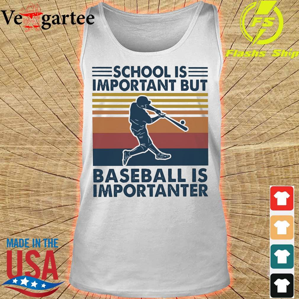 School is important but basketball is importanter vintage Shirt tank top