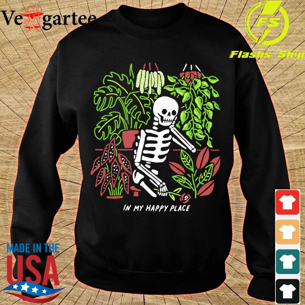 Skeleton In my happy place s sweater