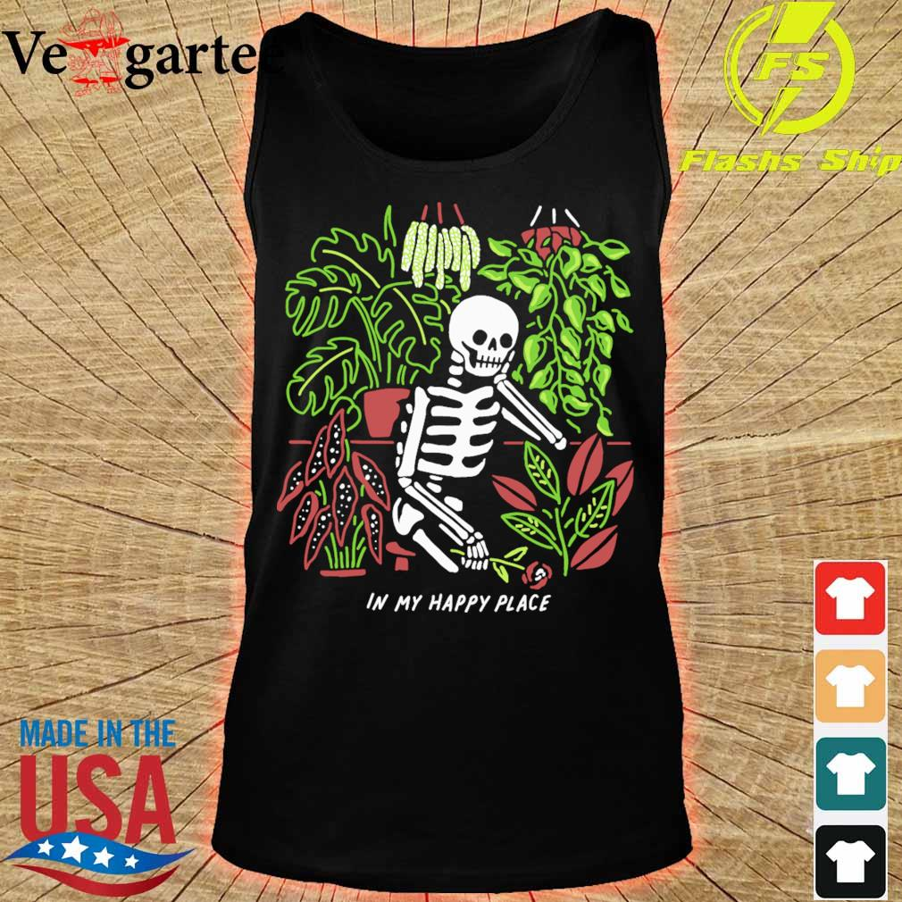Skeleton In my happy place s tank top