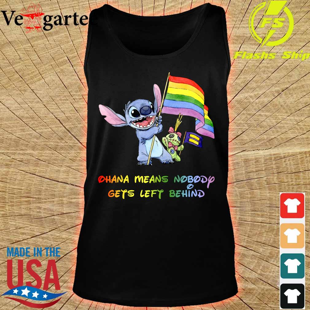 Stitch LGBT Pride Ohana Means Nobody Gets left Behind s tank top
