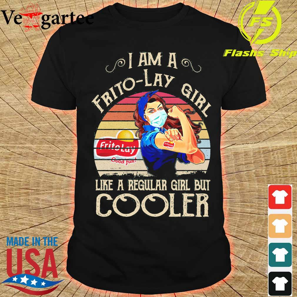 Strong girl mask I am a Frito-Lay girl like a regular girl but cooler vintage shirt