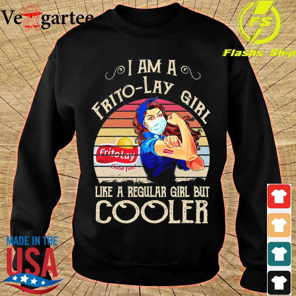 Strong girl mask I am a Frito-Lay girl like a regular girl but cooler vintage s sweater